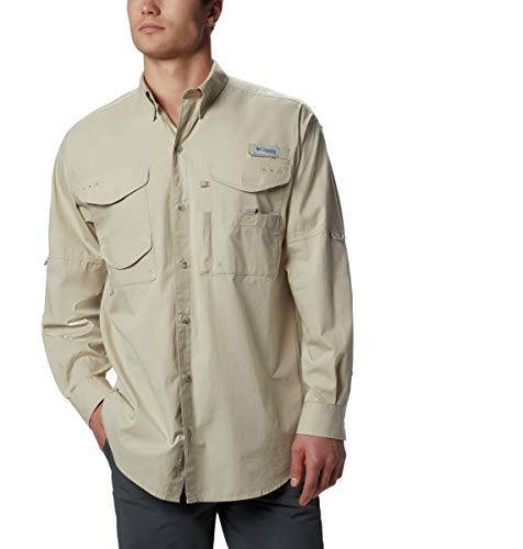 Columbia fm7120Herren Holzkopf LS Shirt, Fossil/Stone-S (Button-up-shirt L/s)