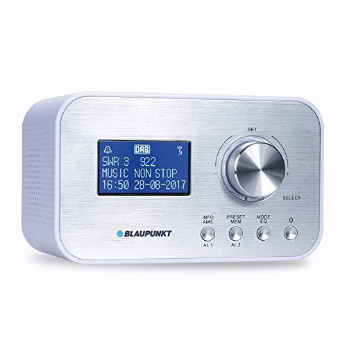 BLAUPUNKT CLRD 30 WH  BLAUPUNKT CLRD 30 Radiowecker | Digital Radio DAB+ | Uhrenradio mit USB Ladefunktion | Zwei Weckzeiten | Snooze Funktion und Sleeptimer | 6 Watt RMS |RDS (Senderanzeige) Weiß