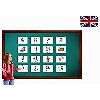 Carte illlustrate educativi - Flashcard lingua inglese - Verbs Flashcards