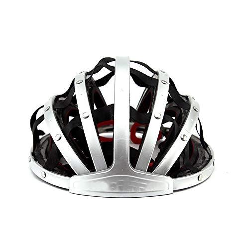 Exklusive Anpassung Fahrrad Reithelm Bequem Helm Falten Mountainbike Helm Reithelm Atmungsaktiv Sicherheit Männer Und Frauen Fahrradhelm Sicheres Fahren (Farbe : Silver) (Falten Kleinkind Fahrrad)
