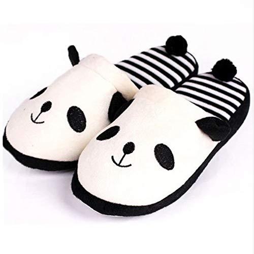 Fanqiannan inverno donne scarpe cartoon panda coperta molle bottomed pantofole di cotone anti-skid per la casa