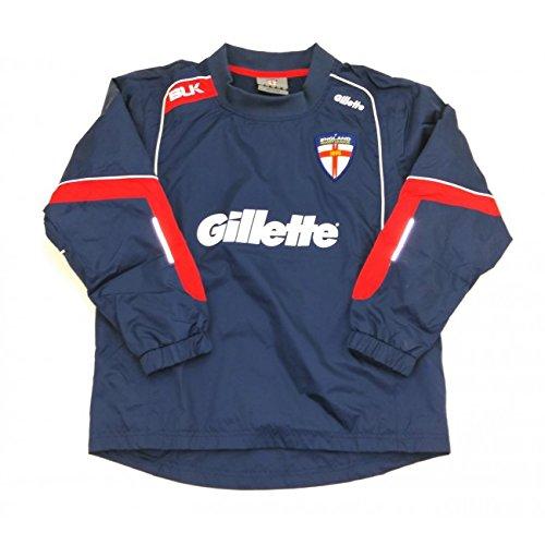 Blk Offizielle England Rugby League League Wet Wetter Junior Jacke, navy