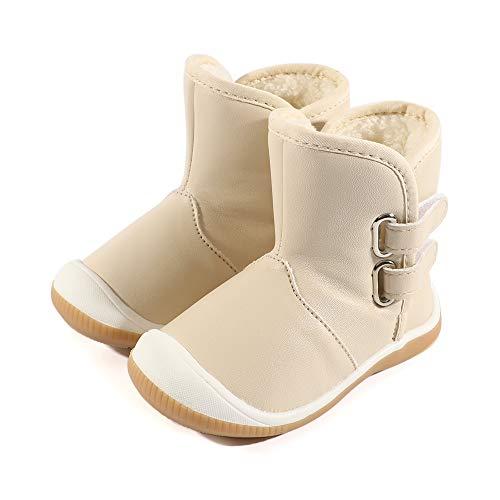 LACOFIA Botas de Nieve Impermeables para Invierno Zapatos de Suela de Goma Antideslizante para bebé...