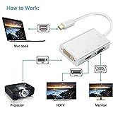 Zamp E Commerce Gold Plated Mini Displayport Thunderbolt To Hdmi/Dvi/Vga Display Port Cable For PC With Mini Display Port - White