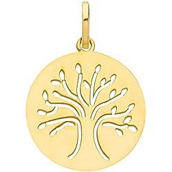 DIAMANTLY Medaille bapteme republicain arbre or 375/1000