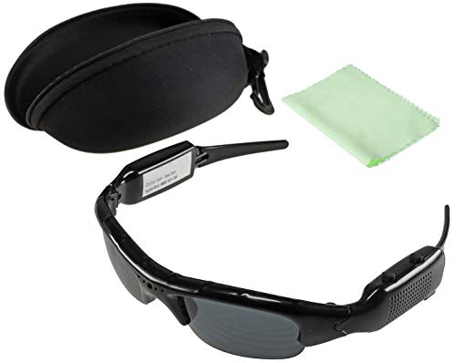 Sonnenbrille mit Kamera CT-Glass FHD Video Full HD 1920x1080p Akku Aufladbar I Action Kamera für Boulder, Biker, Downhill