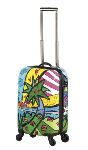 NUR HEUTE ... 50% SALE ... PREMIUM DESIGNER Hartschalen Koffer - Heys Künstler Britto A New Day Beauty Case Palm 1