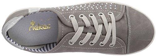 Rieker Kinder rieker teens K3007, Low-Top Sneaker bambina Grigio (Grau (staub/silber 42))