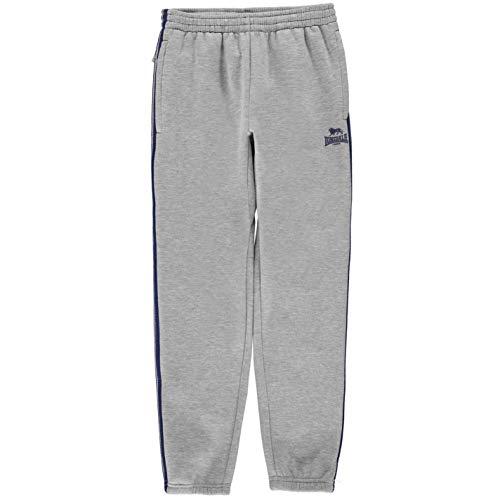 Lonsdale Jungen Jogginghose Taschen Kordelzug Grau Marl/blau L