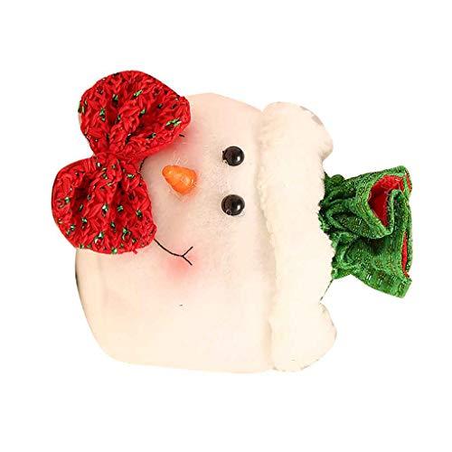 Busirde Draw String Basket Tasche Zuckerhalter Weihnachten Elk Snowflake Old Man Tasche Pounches Handtasche Schneemann - Einen Man Schneemann Wie
