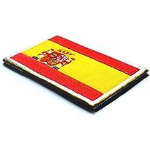 1Pieza no gamuza de bandera de España insignia Conjunto bordado parche Sew 8x 5cm