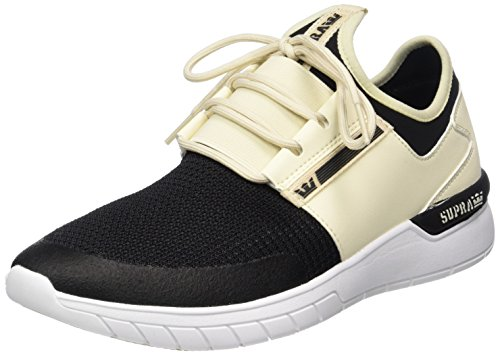 Supra Flow Run, Pantofole Uomo Weiß (Cream/Black-White)
