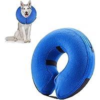 KOBWA Collar Hinchable para Mascotas, Protector Ajustable, Suave, recuperación para Perros y Gatos, Evita Que Las Mascotas se vuelvan a la cirugía sin Bloquear la visión