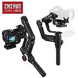 ZHIYUN Crane 3 LAB Stabilizzatore, 3 Assi Gimbal Stabilizzatore per DSLR Camera con Follow Focus, per Nikon Sony Canon Panasonic Fino a 4.5Kg Borsa Portatile per Fotocamera