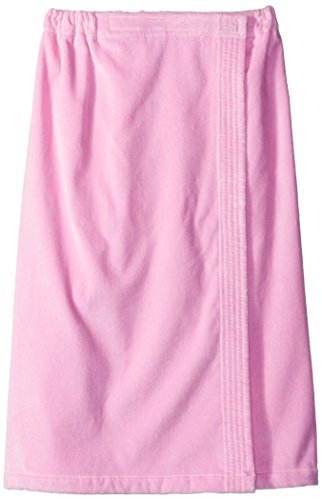 Terry Town Damen Terry Velours Spa Wrap, Pink, One size