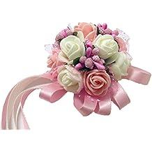 ab8dc07a4617 Westeng lazo decorativo con flores para boda