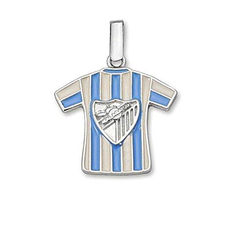 Colgante camiseta escudo Málaga CF plata de ley esmaltado [8681] - Modelo: 60-106