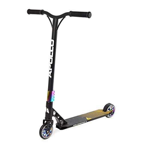 Apollo Stunt Scooter - Genesis Pro X Rainbow - HighQuality Profi Stunt-Scooter, ABEC 9 Kugellagern, 100mm PU Wheels mit Alu Core, Funscooter, Tretroller, Roller