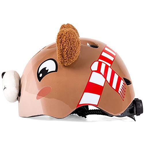 LLIIAYUK Kinder-Helm, Tier-Motiv, für Rollschuhe, Rollschuhe, Rollschuhe, Rollschuhe, Roller, Baby Cartoon-Sport, Schutzhelm, geeignet für Kopf (48-52 cm) -