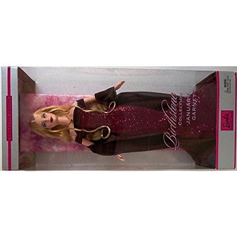 Barbie collezione 2002, con pietra portafortuna per il mese di gennaio