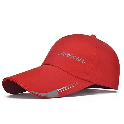 nisex Baseball Caps für Männer Frühling Sommer Golf ausgestattet Knochen Hip Hop Snapback Outdoor Hüte Sonnenblende,rot ()