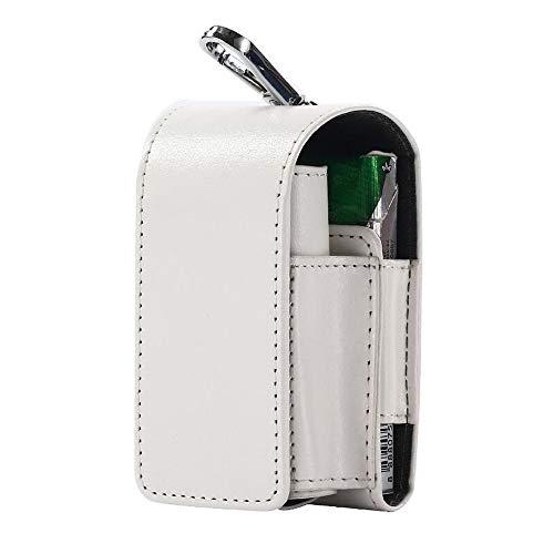 ACLBB 2In1 Sac De Rangement Étui À Cigarettes Électronique, Veste en Cuir IQOS, Sac De Rangement Multifonction PU,White