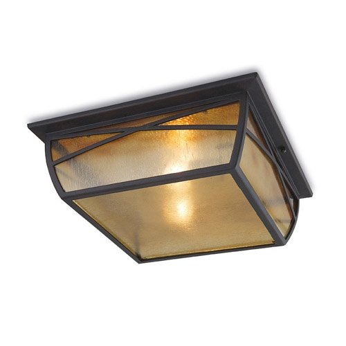 Alba aluminium lampe lED format c4 au plafond/rouille oxidbraun diffuseur en verre
