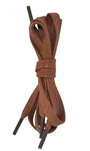 2 Paires Coton Lacets pour Boots Shoestrings, Rouge-marron