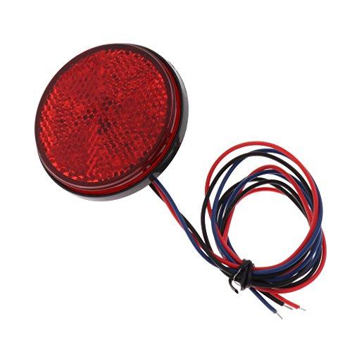 4x Bouchons de Valves lumineux Flash pneu LED Pour Moto Velo voiture clignotant rouge decorer 2 paire