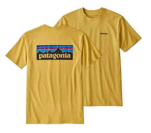 Mountain Short Sleeve Tee (Patagonia Herren M's P-6 Logo Responsibili-Tee Hemd, Sticker, Pink, M)