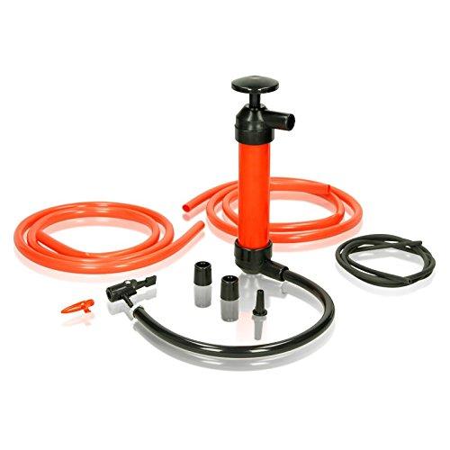 ECD Germany Multifunktionale Siphonpumpe Absaugpumpe Saugpumpe Umfüllpumpe Handpumpe Pumpe für Benzin Diesel Öl Wasser