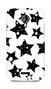 AMEZ designer printed 3d premium high quality back case cover for Micromax Canvas Magnus A117 (black and white stars)