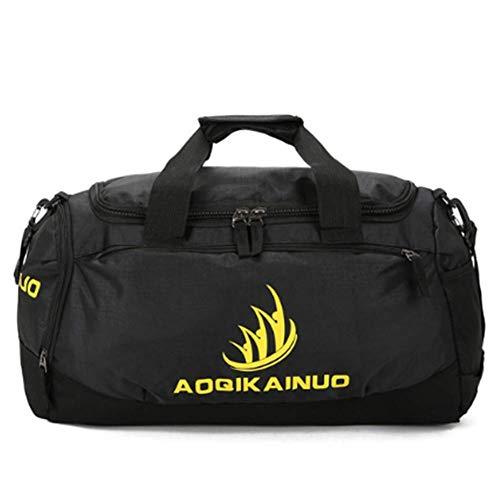 XXLYY Sport-Duffels Rucksäcke Turnbeutel Wasserdicht - Reisetasche mit Schuhfach für Männer und Frauen, Fitness, Yoga (schwarz) Schwarz Slim-duffle