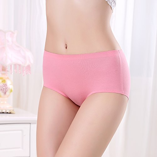 FZmix Women Panties Seamless Cotton Breathable Briefs Plus Size Girl Underwear Lingerie Watermelon Red
