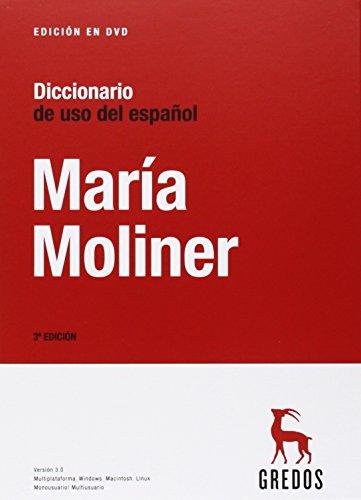 Diccionario de uso del español (DVD 3.0) (DICCIONARIOS) por Maria Moliner