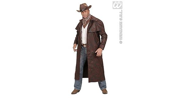 Magic Box Cappotto Duster Cowboy di Adulto Uomo Marrone
