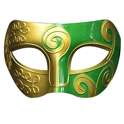 hahuha Toy  Dekompressionsspielzeug,Retro Roman Gladiator Schwertkämpfer Halloween Party Masken Karneval Maskerade Maske (Gladiator Maske Halloween)