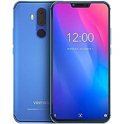 "Vernee M8 Pro Teléfono Móvil Libre 6GB RAM 64GB ROM, Pantalla FHD 6.2"" Cámara Dual AI 16MP+8MP, Batería 4100mAh Carga QI Inalámbrica Dual SIM 4G Volte, Android 8.1 Face ID Octa-Core 2GHz, NFC - Azul"