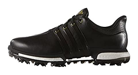 Adidas Tour360 Boost – Men's Golf Shoes, Men, Black / Gold,9 UK (43.3