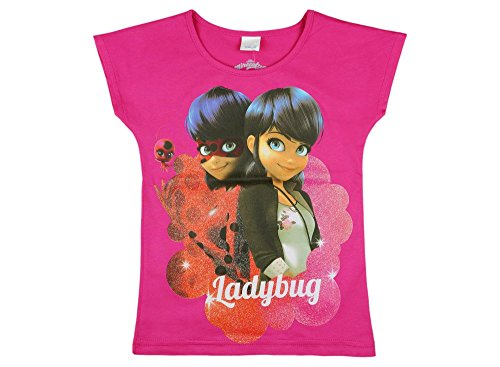 Disney - Miraculous Mädchen- Kurzarm-Shirt Lady-Bug, Oberteil aus -