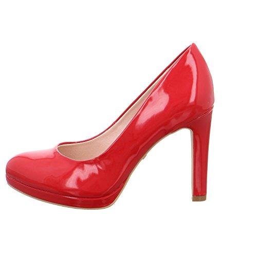 Buffalo  H748-1, Escarpins pour femme Rouge