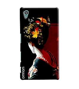 Omnam Girl Giving Back Pose Printed Designer Back Cover Case For Sony Xperia Z5