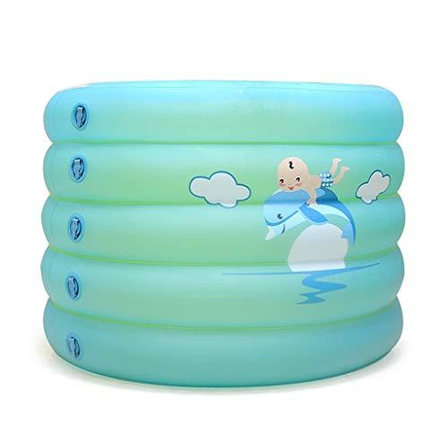 HUUQ HRQ Bañera Inflable for niños Aislamiento de Engrosamiento Plegable Piscina Redonda de Cinco...
