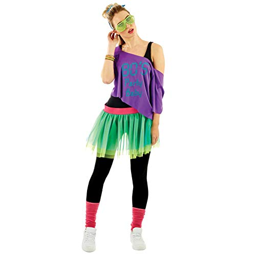 a5bbd126e17 Fun Shack FBA-6773 1980's Rave Print, Women, 80's Party Baby, One Size