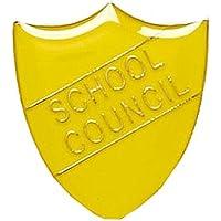 2,2x 2.5cm Shield Badge scuola Consiglio, Yellow - Personalizzati Pin Badge