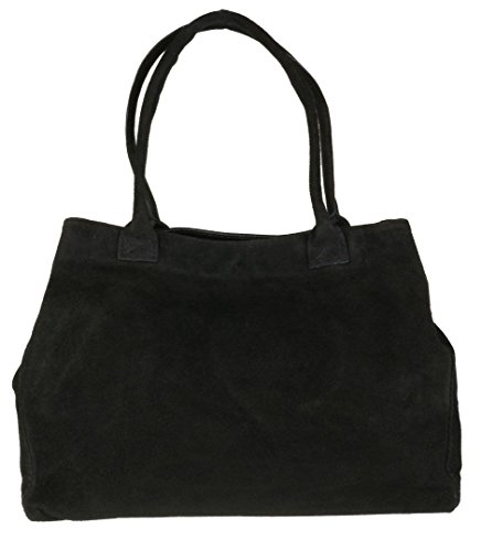 girly-handbags-expandable-italian-suede-leather-shoulder-bag-black