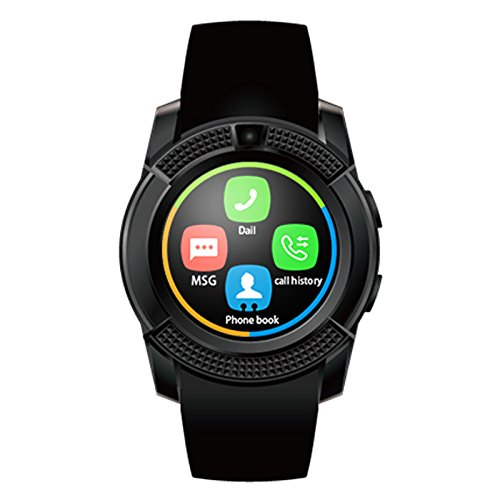 Bluetooth Smartwatch with SIM Card Support | Android 5.1 OS | Facebook | Whatsapp | Activity Tracker | Fitness Band | Music | Camera with Video Recording | Compatible with Micromax Canvas Doodle 2 and All Other Smartphones | Micro SD card Support  available at amazon for Rs.1999