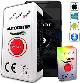 Autogenie Multi-Blue 2021 OBD2 Diagnosegerät für iPhone iOS & Android Bluetooth 4.0 ECHTZEIT-Daten HUD Torque Auto KFZ Fehler-Speicher Lesen Löschen