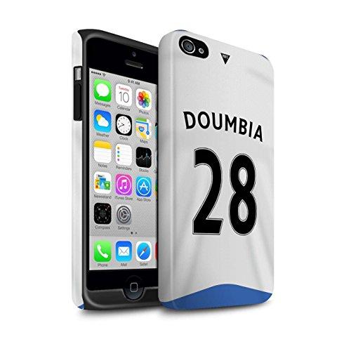 Officiel Newcastle United FC Coque / Matte Robuste Antichoc Etui pour Apple iPhone 4/4S / Pack 29pcs Design / NUFC Maillot Domicile 15/16 Collection Doumbia