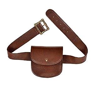 WIDMANN 09836 - Cinturón con bolsillo de piel sintética, para mujer, color marrón, talla única